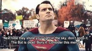 Batman v Superm... Justice Vs Mercy Quotes