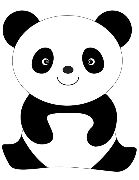 panda coloring pages best panda clipart 67 clipartion