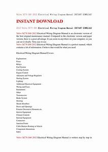 Xc70 S80 2012 Electrical Wiring Diagram Manual Instant