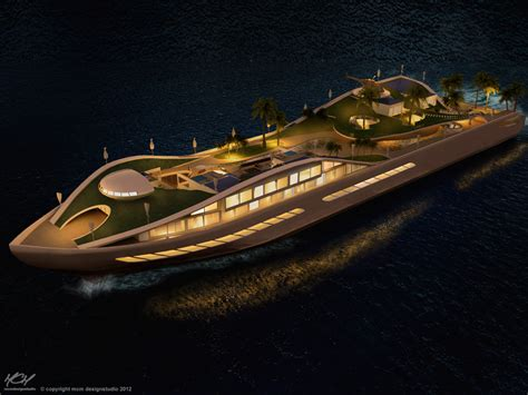 incredible yacht concept  basically  true floating island business insider