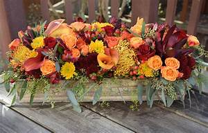Long, And, Low, Thanksgiving, Table, Centerpiece, Created, By, Fleurelity