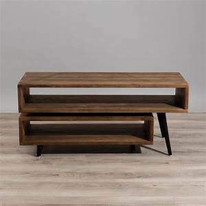 Meuble Tv Bois Foncé : meuble tv rotatif bois fonc asio univers du salon ~ Teatrodelosmanantiales.com Idées de Décoration