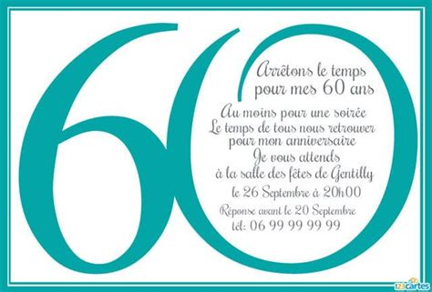 Invitation Anniversaire 60 Ans En Chiffres