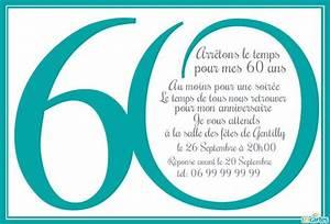 Faire Part Anniversaire 60 Ans : invitation anniversaire 60 ans en chiffres 123cartes ~ Melissatoandfro.com Idées de Décoration