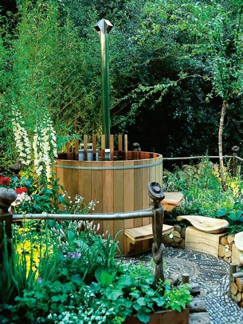 tubs for the garden 65 awesome garden hot tub designs digsdigs