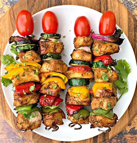 fryer air chicken kebabs grilled kabobs easy recipes staysnatched healthy fry frozen dinner cook carb low recipe stir airfryer cooking