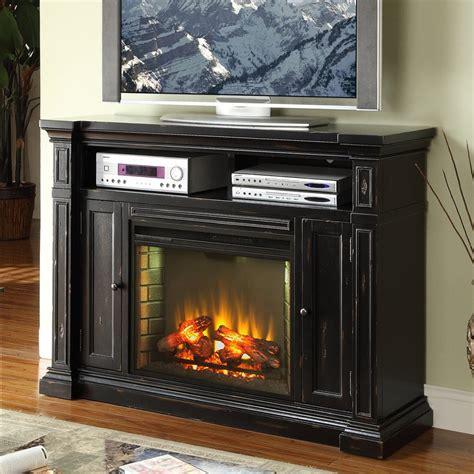 electric fireplace media center shop legends furniture 58 in w 4 600 btu rustic black wood