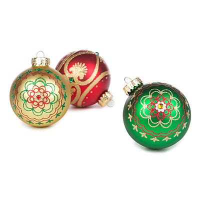 green red gold glass ornaments 8 pack big lots