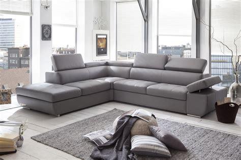canapé cuir gris clair canapé d 39 angle design en pu gris clair marocco canapé d