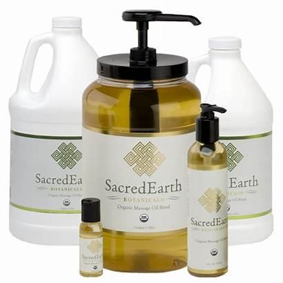 Massage Oil Organic Sacred Earth Blend Oils
