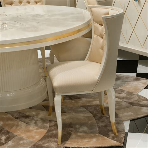high round dining table high end modern ivory lacquered round dining table set