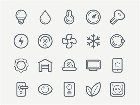 Smart House Icon Set Sketch Freebie