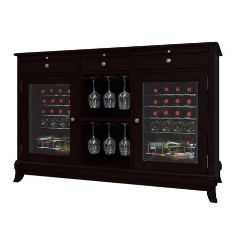 Wine Storage Credenzas - vinotemp cava 36 bottle wine cooler credenza in espresso