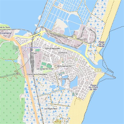 plan port la nouvelle carte ville port la nouvelle