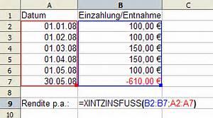 Zinsfuß Berechnen : berechnung wertsteigerung per anno fonds und ~ Themetempest.com Abrechnung