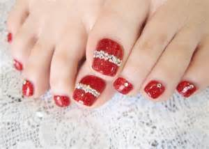 Red cute nail art designs picture