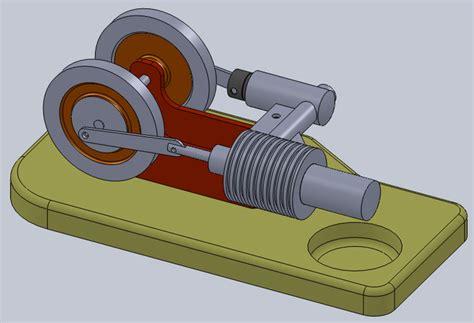 3d модель двигатель стирлинга turbosquid 1407791