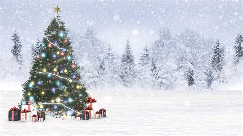 christmas snow background motion background