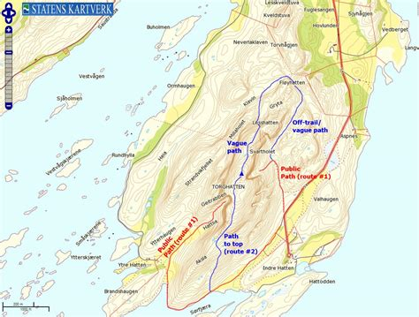 norwegian mountains route descriptions torghatten