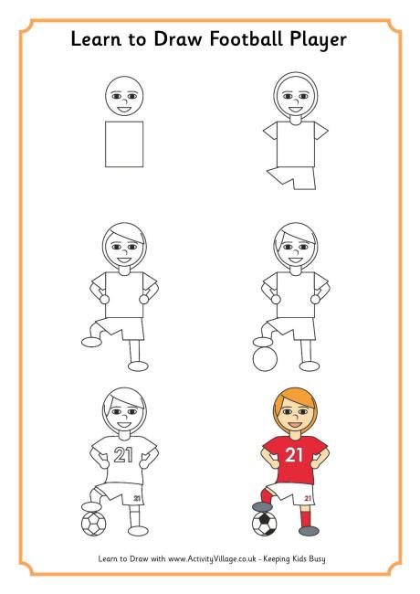 How to Draw a Easy Football Player