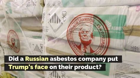 russian asbestos company put trumps face