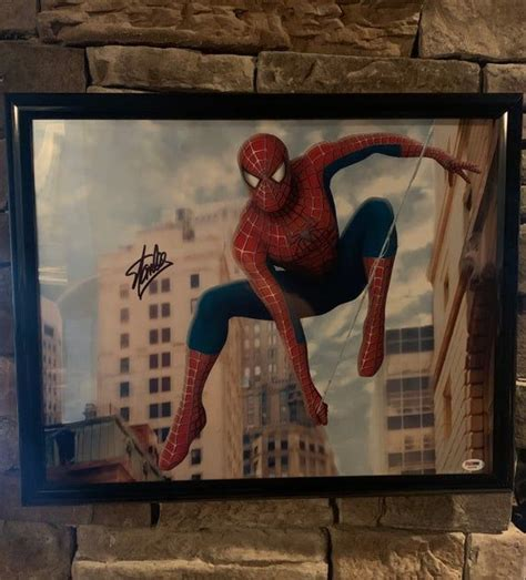 Autographed Stan Lee Spider Man marvel comics. Framed ...