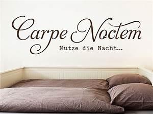Wandtattoo Carpe Noctem : wandtattoo carpe noctem schriftzug klebeheld de ~ Sanjose-hotels-ca.com Haus und Dekorationen
