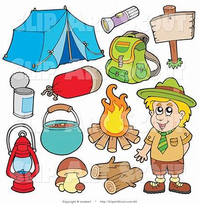 Camping Clipart Camper Collage Gear Campers Camp