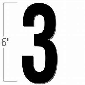 6 inch die cut magnetic number 3 black sku nl mg 6 bk 3 With die cut magnetic letters