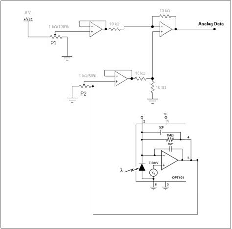 Schematic Diagram The Electronic Circuit Connected