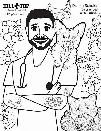 Coloring Dr Hill Sheet Scholer Hospital Animal