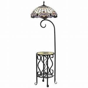 cal lighting bo 2318gt 100 watt tiffany floor lamp with With poppin tiffany style floor lamp with tray table