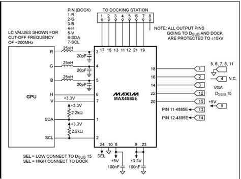 Electrical Wiring Diagram For A Laptop by Circuit Diagram Laptop Lcd Display To Vga Maxim