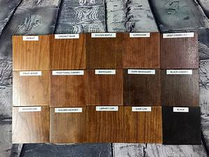 Oak Wood Stain Color Chart Color Stains Top Secret Furniture
