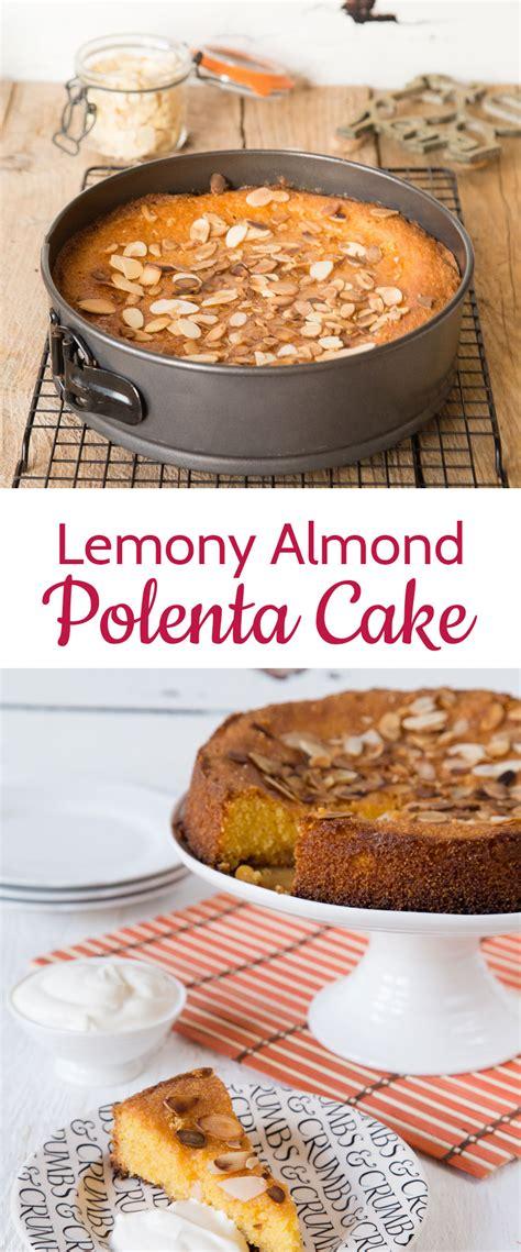 recipe lemony almond polenta cake  sophie thompson