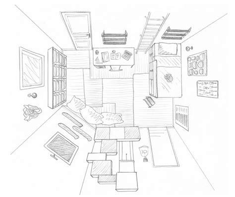croquis de chambre dessin chambre pré ado salle de jeux commune vue de