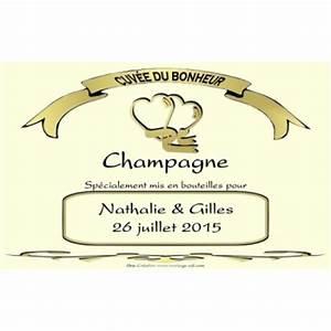 Etiquette Champagne Mariage : etiquette champagne mariage pas cher ivoire personnalis es ~ Teatrodelosmanantiales.com Idées de Décoration