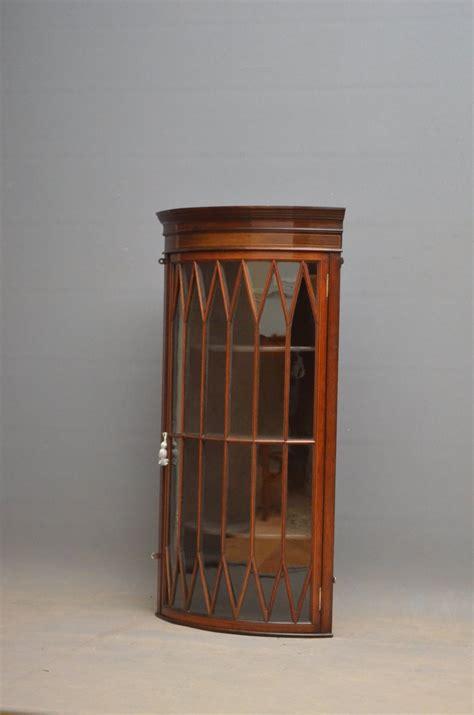 mahogany kitchen cabinet edwardian mahogany glazed corner cabinet 453804 3959