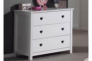 Commode Laqué Blanc : commode 3 tiroirs blanc laqu sarah cbc meubles ~ Teatrodelosmanantiales.com Idées de Décoration
