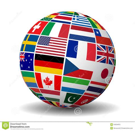 International Business World Flags Globe Stock Vector  Illustration Of Flag, Icon 54034810