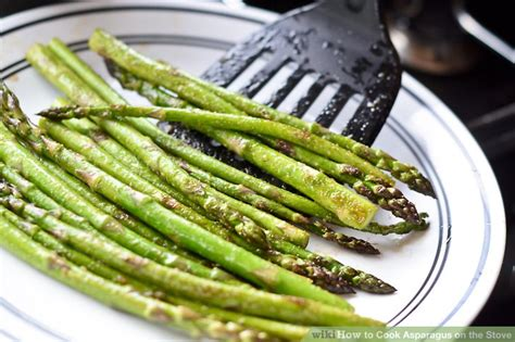 how to prepare asparagus how to cook asparagus on the stove with pictures wikihow