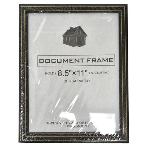 wholesale document frame black wgold trim