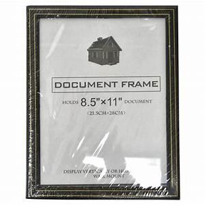 wholesale document frame black w gold trim 85quotquotquotquot x 11 With cheap document frames
