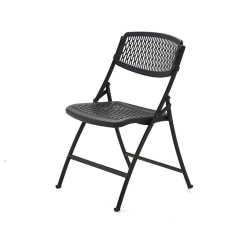 hdx black folding chair set of 4 2ff004hdx the home depot