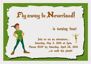 mom39s tot school peter pan party With peter pan invitation template
