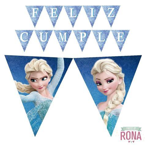 Frozen Printable Happy Birthday Banner Imprimibles