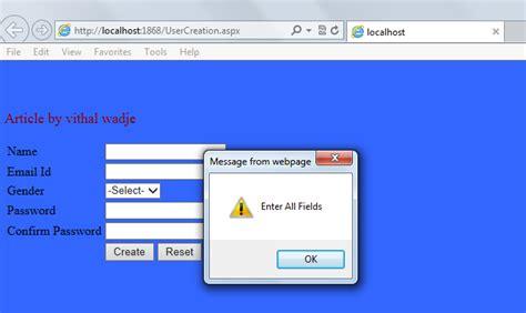 asp net form validation using jquery