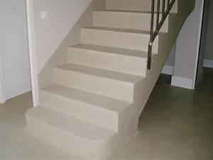 application du beton cire sur un escalier arcane industries With beton cire pour escalier exterieur