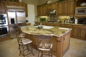 granite top kitchen island with seating 39 fabulous eat in custom kitchen designs