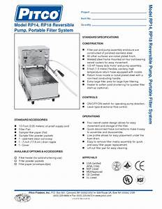 Pitco Rp14 55 Lb  Portable Fryer Oil Filter Machine With